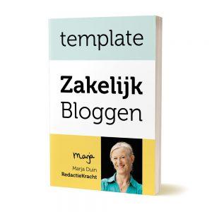 zakelijk bloggen template